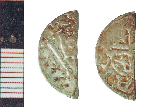 NLM-8D6602: Medieval Coin: Scots halfpenny of William I