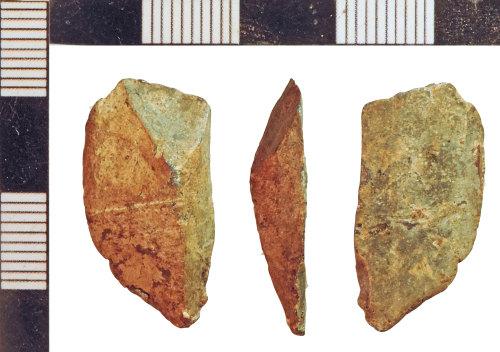 NLM-B81C18: Post-Medieval Lead Offcut