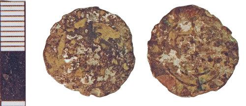 NLM-87536C: Post-Medieval Coin: Halfgroat of an indeterminate ruler