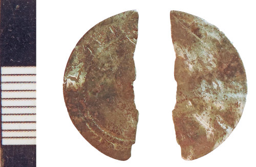NLM-15AC9A: Post-Medieval Coin: Halfgroat fragment of an indeterminate ruler