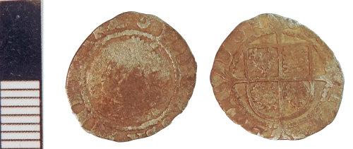 NLM-2A0701: Post-Medieval Coin: Halfgroat of Elizabeth I