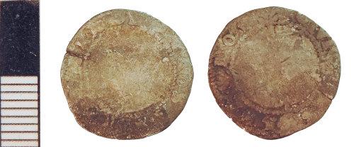NLM-E1D180: Post-Medieval Coin: Halfgroat of Elizabeth I