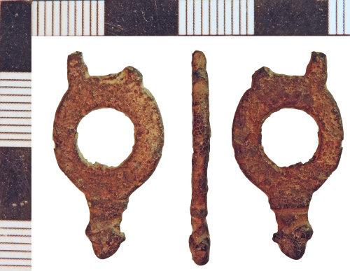 NLM-8A307D: Medieval Strap End fragment