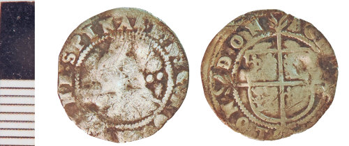 NLM-752DF9: Post-Medieval Coin: Halfgroat of Elizabeth I