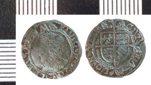 NLM-B0D3A9: Post-Medieval Coin: Penny of Elizabeth I