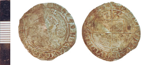 NLM-586A38: Post-Medieval Coin: Sixpence of Elizabeth I