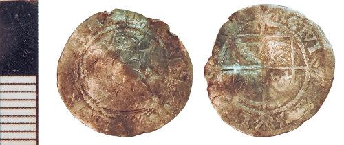 NLM-E6A690: Post-Medieval Coin: Halfgroat of Elizabeth I