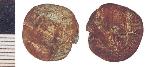 NLM-148DC1: Post-Medieval Coin: Halfgroat of Elizabeth I