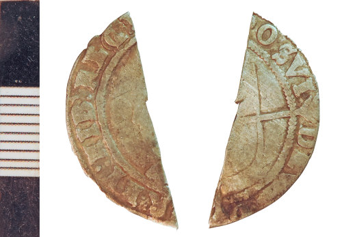 NLM-29B425: Post-Medieval Coin: Sixpence of Elizabeth I