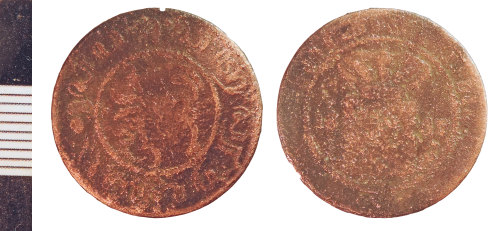 NLM-097A17: Post-Medieval Coin of an indeterminate foreign ruler