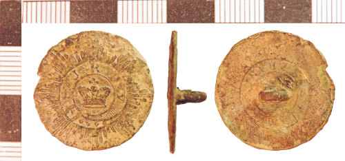 NLM-0A2FE6: Post-Medieval Button