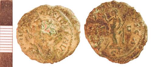 NLM-9BB043: Roman Coin: Radiate of Carausius