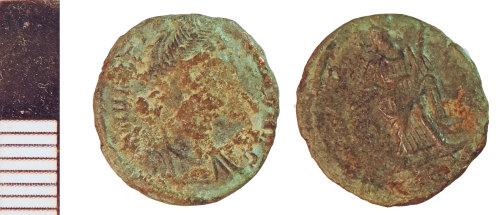 NLM-B0F4AD: Roman Coin: Nummus of House of Constantine
