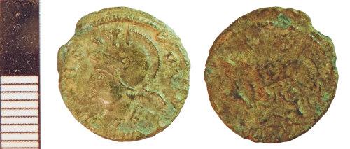 NLM-B6A8FD: Roman Coin: Nummus of House of Constantine