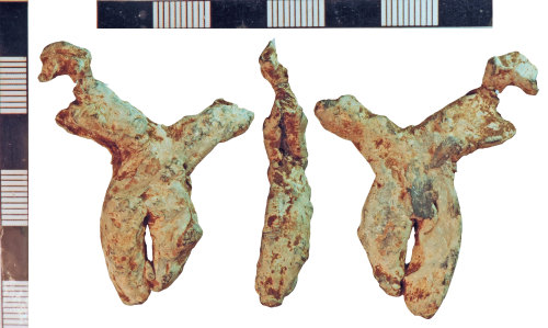 NLM-6FF4C4: Medieval Window Came fragment