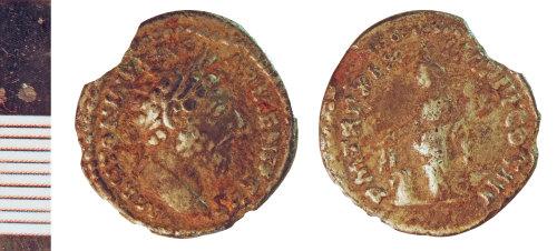 NLM-BCE543: Roman Coin: Denarius of Marcus Aurelius