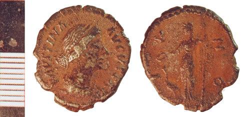 NLM-BCF938: Roman Coin: Denarius of Faustina II