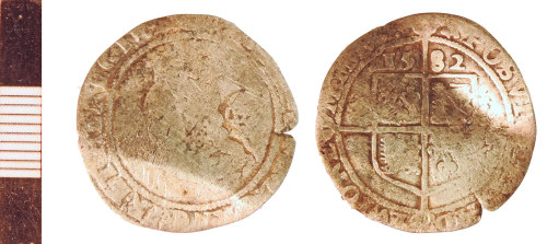 NLM-C2B346: Post-Medieval Coin: Sixpence of Elizabeth I