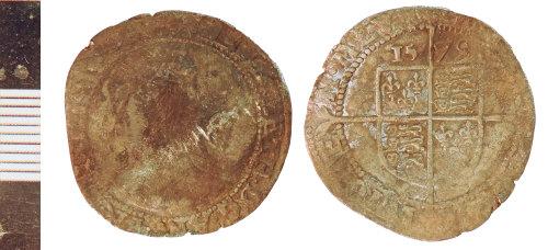 NLM-A9A5EC: Post-Medieval Coin: Sixpence of Elizabeth I