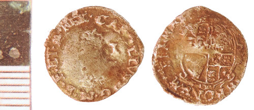 NLM-964CBE: Post-Medieval Coin: Penny of Charles I
