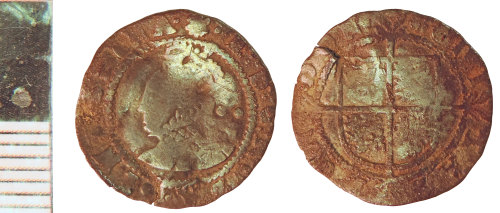 NLM-EA5E3F: Post-Medieval Coin: Halfgroat of Elizabeth I