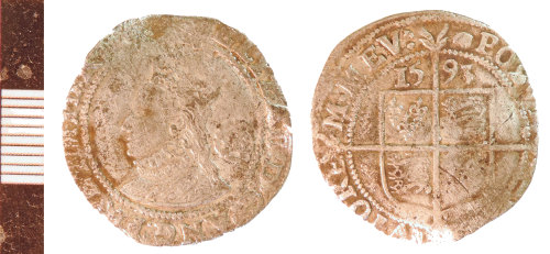 NLM-24798A: Post-Medieval Coin: Sixpence of Elizabeth I