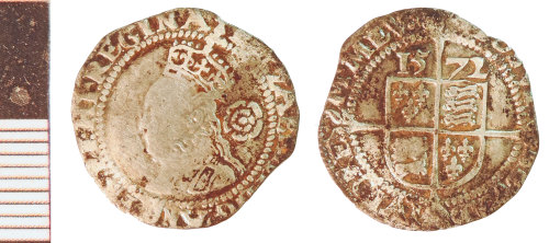 NLM-38F15B: Post-Medieval Coin: Threepence of Elizabeth I