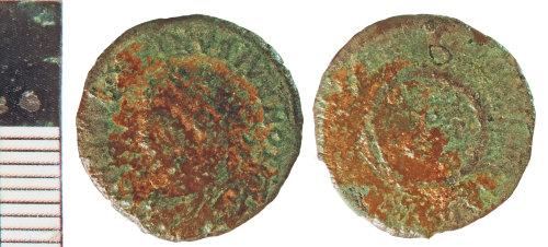 NLM-74A6EF: Roman Coin: Nummus of Constantine II