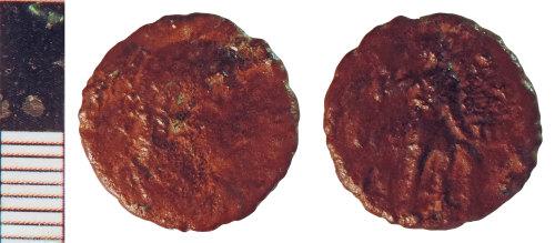 NLM-95D6B1: Roman Coin: Nummus of Gratian