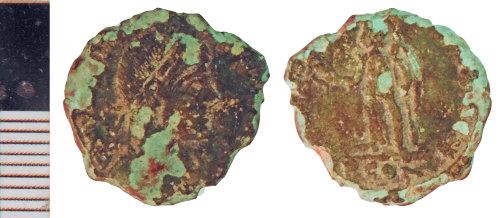 NLM-6AC3D2: Roman Coin: Nummus of Valentinian I