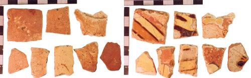 NLM-D66D6D: Post-Medieval Slipware Potsherds