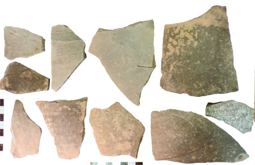 NLM-10F193: Roman Greyware Potsherds - outer side