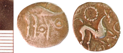 NLM-93D552: Iron Age Coin: Uninscribed Silver Unit of the Corieltauvi