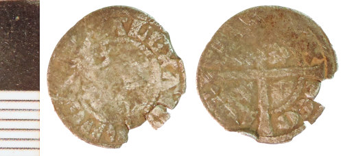 NLM-93FC26: Medieval Coin: Scots Halfpenny of Alexander III