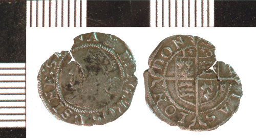 NLM-CD51A7: post-Medieval Coin: Threehalfpence of Elizabeth I