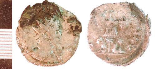 NLM-E0D54C: Roman Coin: Radiate, possibly of Victorinus
