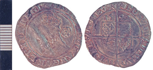 NLM-F7A989: Post-Medieval Coin: sixpence of Elizabeth I