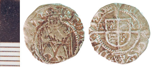 NLM-F7B778: Post-Medieval Coin: Penny of Henry VIII