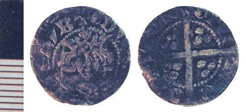 NLM-4C1B9B: Medieval Coin: Penny of Edward I