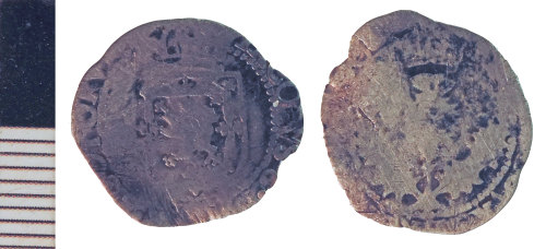 NLM-4C341E: Post-Medieval Coin: Scots Eighth-Merk of Charles I