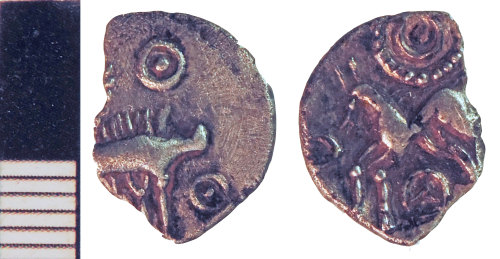 A resized image of Iron Age Coin fragment: Uninscribed Silver Unit of the Corieltauvi