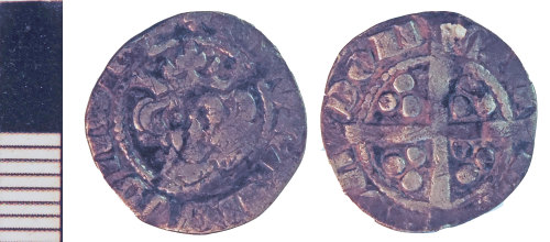 NLM-5AB19A: Medieval Coin: Penny of Edward I
