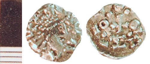NLM-605329: Early Medieval Coin: Sceat of class B