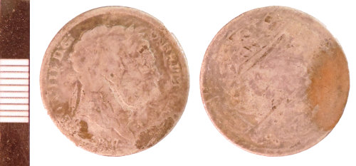 NLM-6124CA: Post-Medieval Coin: Shilling of George III