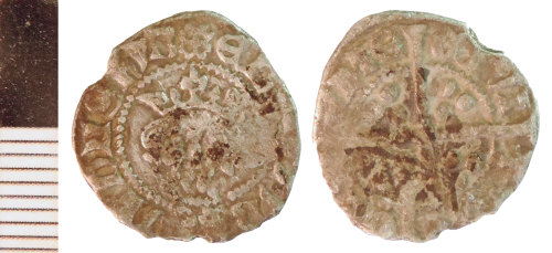 NLM-8B865B: Medieval Coin: Penny of Edward I