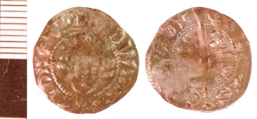NLM-99669A: Medieval Coin: Penny of Edward II