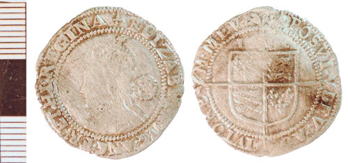 NLM-E785F7: Post-Medieval Coin: Sixpence of Elizabeth I