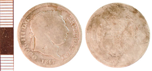 NLM-FC9D19: Post-Medieval Coin: Shilling of George III