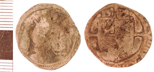 NLM-7F2CDA: Post-Medieval Coin: Sixpence of Elizabeth I