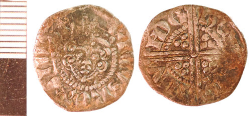 NLM-7F39B9: Medieval Coin: Penny of Henry III